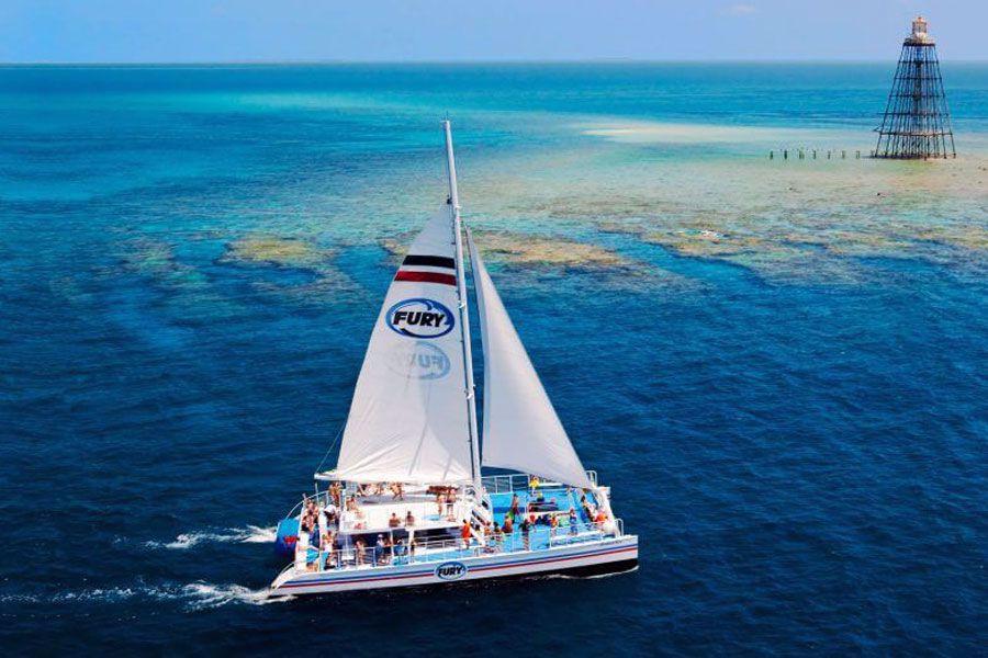 State-of-the-Art Fury Catamaran Cruising