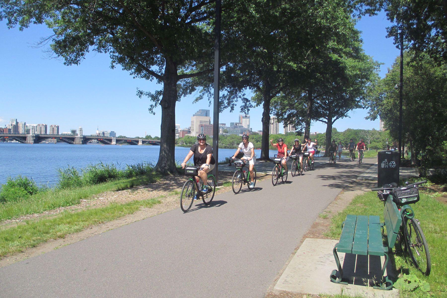 Bike along the Charles River