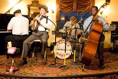 Jazz musicians play in style and comfort