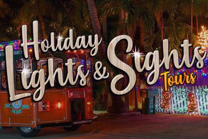 Savannah Old Town Trolley's Holiday Lights Tour
